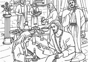 Mary Washes Jesus Feet Coloring Page today with the Saints July 22 St Mary Magdalene