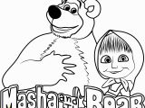 Masha and the Bear Coloring Pages Masha and the Bear Coloring Page Free Masha and the Bear