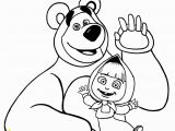Masha and the Bear Coloring Pages Masha and the Bear Coloring Page