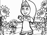 Masha and the Bear Coloring Pages Masha and the Bear Coloring Pages