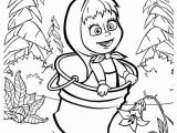 Masha and the Bear Coloring Pages Masha and the Bear Jumping On Bucket Coloring Pages