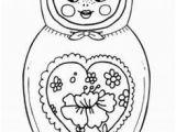 Matryoshka Doll Coloring Page 366 Best Matroyska Draw Images On Pinterest