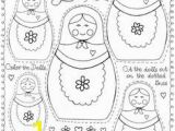 Matryoshka Doll Coloring Page 87 Best Russia for Kids Images On Pinterest