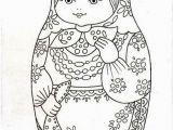 Matryoshka Doll Coloring Page Bonne Broderie Matroyska Draw Pinterest
