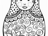 Matryoshka Doll Coloring Page Matriochka Diy Pinterest