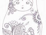 Matryoshka Doll Coloring Page Pin by Gigi Marie On Future Tattoo Inspiration