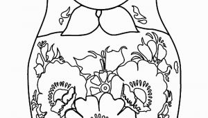 Matryoshka Doll Coloring Page Russian Dolls 11 Russian Dolls Adult Coloring Pages