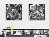 Mc Escher Wall Mural Popular Illusion Wall Buy Cheap Illusion Wall Lots From China