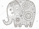 Medicine Bottle Coloring Page Cute Ethnic Elephant Vector Hand Drawn Stock Vector Royalty Free