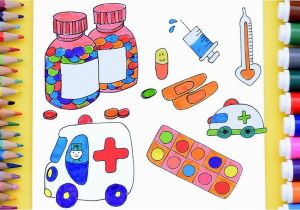 Medicine Bottle Coloring Page How to Draw Doctor Medical Kit for Kids Medical Coloring Pages Art