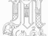 Medieval Illuminated Letters Coloring Pages Limited Me Val Illuminated Letters Coloring Pages Manuscript 3