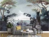 Medieval Wall Murals Beibehang European Style Hand Painted Wallpaper Me Val Rainforest