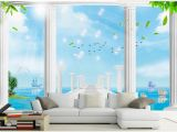 Mediterranean Murals for Walls 3d Wallpaper Custom 3d Murals Wallpaper Mediterranean Sea 3