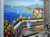 Mediterranean Murals for Walls Mediterranean Seaside Garden Custom Mural Wall Paper Living Room Background Wallpaper Painting Wall Murals Free Mobile Wallpapers Free