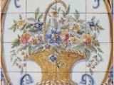 Mediterranean Tile Murals 35 Best Flowers Tile Murals Images In 2019