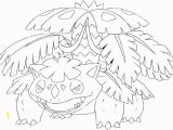Mega Venusaur Coloring Pages Coloring Page Mega Evolved Pokemon Mega Venusaur 3 3