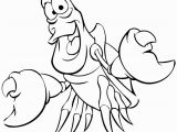 Mermaid Coloring Pages Easy Little Mermaid Coloring Pages Sebastian the Crab