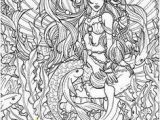 Mermaid Difficult Coloring Pages for Adults 187 Best Coloring Pages for Grown Ups Images