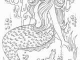 Mermaid Difficult Coloring Pages for Adults Mermaid Coloring Page