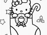 Merry Christmas Hello Kitty Coloring Pages Christmas Stocking Coloring Pages