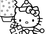 Merry Christmas Hello Kitty Coloring Pages Hello Kitty Merry Christmas Coloring Page Christmas