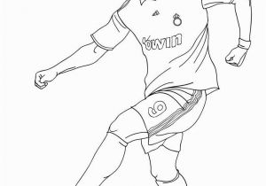 Messi Vs Ronaldo Coloring Pages Christiano Ronaldo Playing soccer Coloring Page