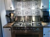 Metal Backsplash Mural Stainless Steel Stove Fabulous Tin Backsplash