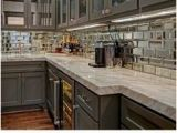 Metal Kitchen Backsplash Murals 58 Best Mirrored Backsplash Images