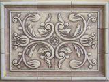 Metal Murals for Kitchen Backsplash 5 Piece Bordeux Backsplash Tile and Plain Frame Liners 16 X 21 1 2