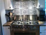 Metal Murals for Kitchen Backsplash Stainless Steel Stove Fabulous Tin Backsplash