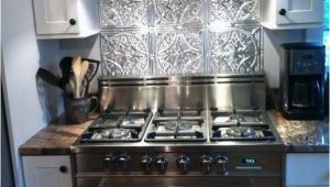 Metal Murals for Kitchen Backsplash Stainless Steel Stove Fabulous Tin Backsplash