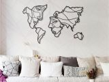 Metal World Map Wall Mural Faces Of World Map Metal Wall Art Best Gift Idea for