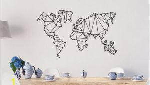 Metal World Map Wall Mural Metal World Map Wall Hanging for Frames 100 X 61 Cm