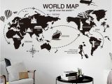 Metal World Map Wall Mural Us $7 52 New Creative World Map Large Wall Stickers Home Decor Living Room Diy Mural Decals Removable Wallpaper In Wall Stickers From Home & Garden