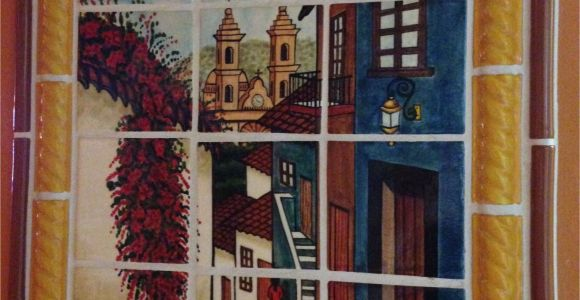 Mexican Tile Wall Murals Mexican Style Mural Callejuela