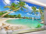 Mexican Wallpaper Murals Custom 3 D Wallpaper Wall Murals 3d Wallpaper Beach Tree Waves