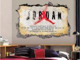 Michael Jordan Wall Mural Michael Jordan Wall Art Decal 3d Smashed Jordan Quote Vinyl