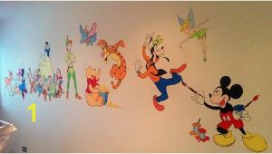 Mickey and Friends Wall Mural Disney Mickey Mouse Clubhouse and Winnie the Pooh Wall