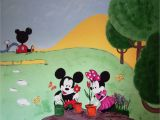 Mickey and Friends Wall Mural Mickey and Minnie Mouse Mural This Mural Was Missioned