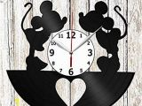 Mickey and Minnie Mouse Wall Murals Amazon Mickey Minnie Mouse Vinel Record Wall Clock Home