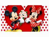 Mickey and Minnie Mouse Wall Murals Mahalaxmi Art & Craft Minnie Mouse Mickey Mouse Mouse Plastic Wall Poster without Frame