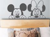 Mickey Minnie Mouse Wall Murals Cartoon Mickey Minnie Maus Tier Vinyl Wandtattoo Aufkleber Wandbild
