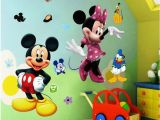 Mickey Minnie Mouse Wall Murals Cute Mickey Mouse Wall Decals with Minnie Mouse Nursery Ideas