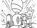 Mickey Mouse Clubhouse Coloring Pages Online Mickey Mouse Clubhouse Mickey In Front Of His Clubhouse