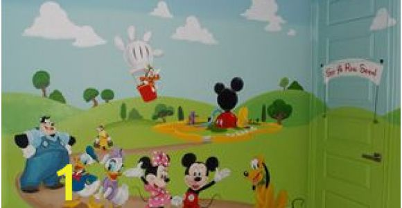 Mickey Mouse Clubhouse Mural Mickey Mouse Clubhouse Kids Play Room Mural Hand Painted