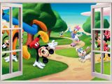 Mickey Mouse Clubhouse Wall Mural Mickey Mouse Wall Decals Murals Nursery Ideas Disney Mickey