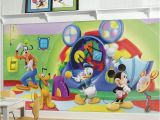 Mickey Mouse Mural Wall Coverings Disney S Mickey Mouse & Friends Clubhouse Capers Removable