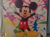 Mickey Mouse Mural Wall Coverings Mickey Mouse Painted Canvas