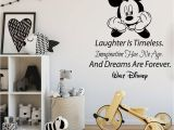 Mickey Mouse Mural Wall Coverings Mickey Mouse Quote Wall Decals Laughter is Timeless Words
