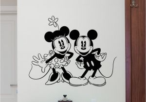Mickey Mouse Wall Murals Minnie Mickey Mouse Wall Decal Disney Vinyl Sticker Kids Decor